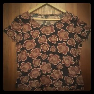 Ann Taylor Top Tee Shirt Blouse Floral Size S 🌹